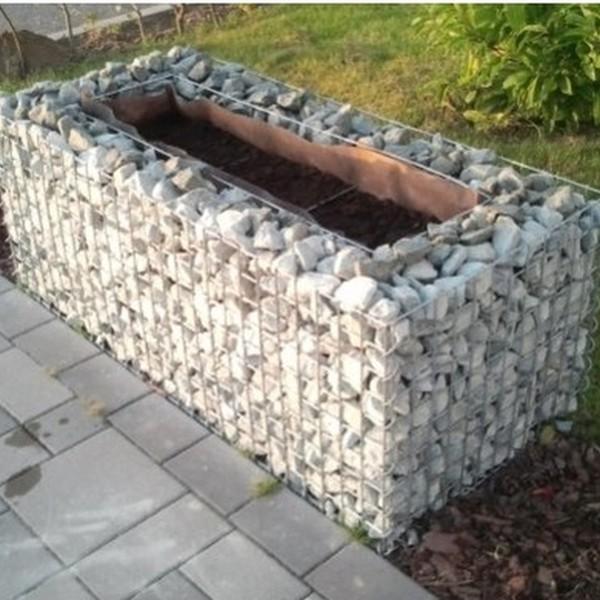 Jardinière en gabion, 130 x 50 x 80 - Epaisseur : 15cm
