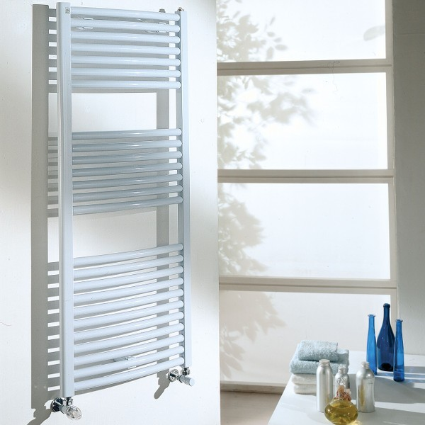 Radiateur sèche serviette eau chaude mixte CORDIVARI Eva 577W