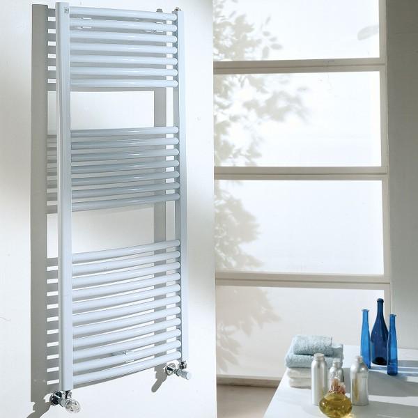 Radiateur sèche serviette eau chaude mixte CORDIVARI Eva 828W