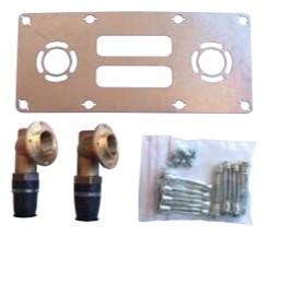 "Platine multicouche TECElogo fixation mitigeur entraxe 150 mm 16x1/2"""