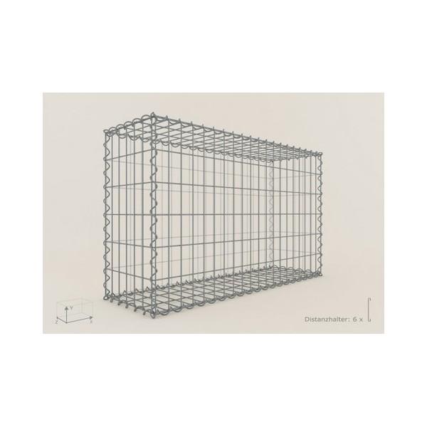 Gabion Rectangulaire 200x100x30 - fil 4,5 mm - maille 5x10 cm