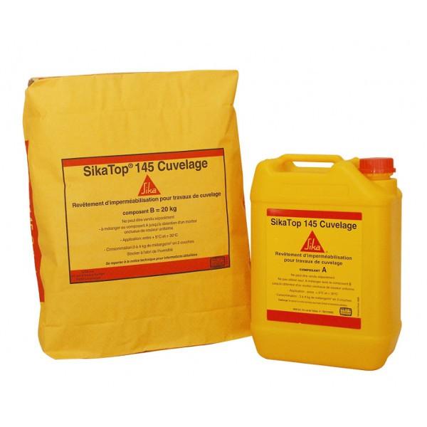 Revêtement d'imperméabilisation SIKATOP 145 Cuvelage Kit Blanc 25kg