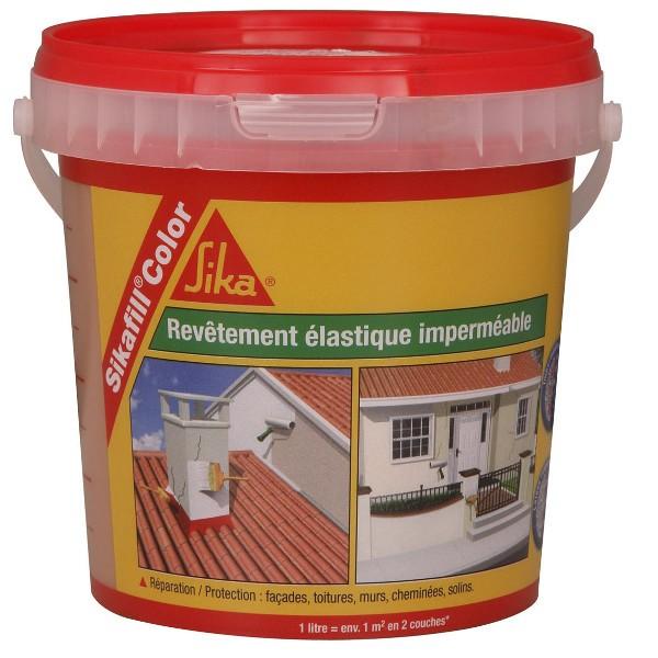 Revêtement de protection SIKAFILL color rouge brique de 8l