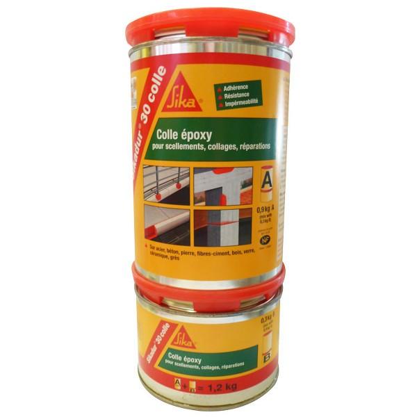 Mastic colle SIKADUR-30 adhésif structural Kit de 6 kg