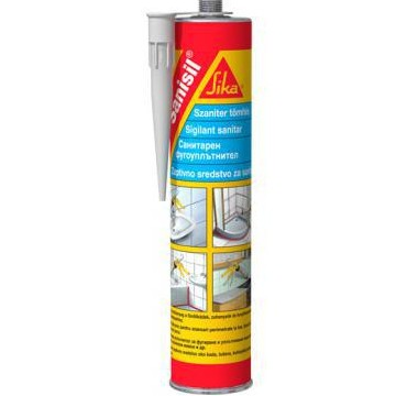 Mastic Silicone SIKA SANISIL Translucide anti-moisissures cartouche 300ml