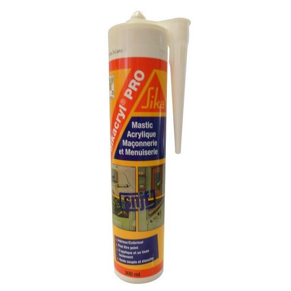 Mastic Acrylique SIKACRYL Pro Gris spécial façade, carton 12 x 300ml