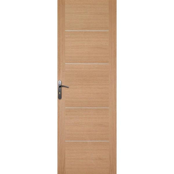 Porte int rieure ch ne 4 inserts 204x83 cm for Porte 204x83