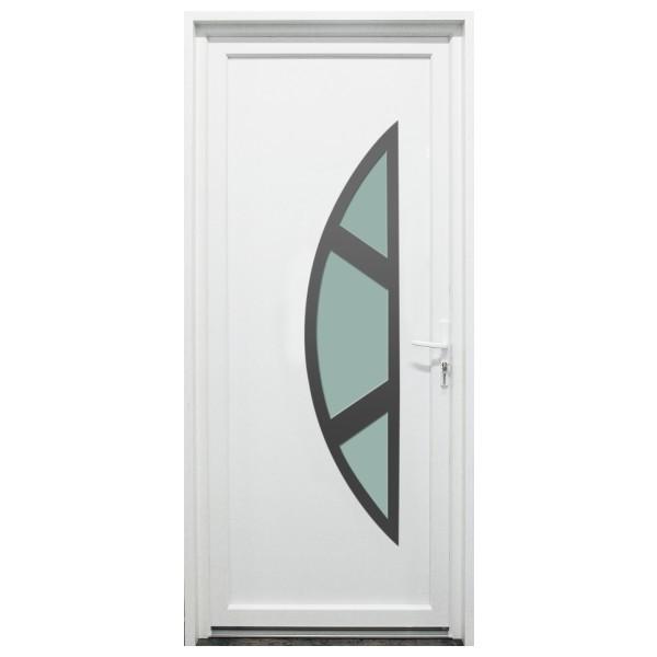 Porte d'entrée PVC Meuse blanche, 215x90cm, poussant gauche
