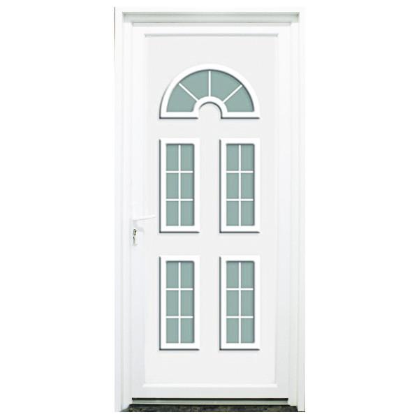 porte d 39 entr e pvc seine blanche 215x90cm droit. Black Bedroom Furniture Sets. Home Design Ideas