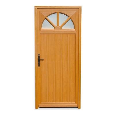Porte de service vitrée Bois exotique Aude, 215x90cm, poussant droit