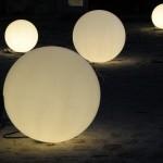 Sphère lumineuse diamètre 118 cm, couleur au choix, l'unité