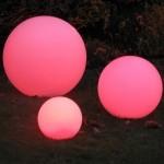 Sphère lumineuse diamètre 35 cm, couleur au choix, l'unité