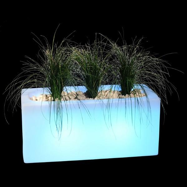 Jardinière lumineuse 100 x 40 x 46 cm, l'unité