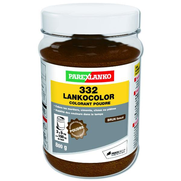 Colorant Brun Foncé 332 Lankocolor Mortiers Ciments ParexLanko, 800 g