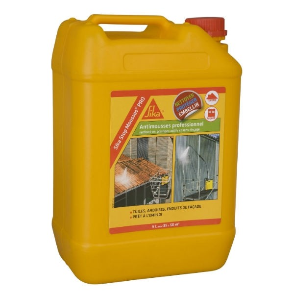 Traitement Sika Stop Mousses Pro multi surfaces 5l