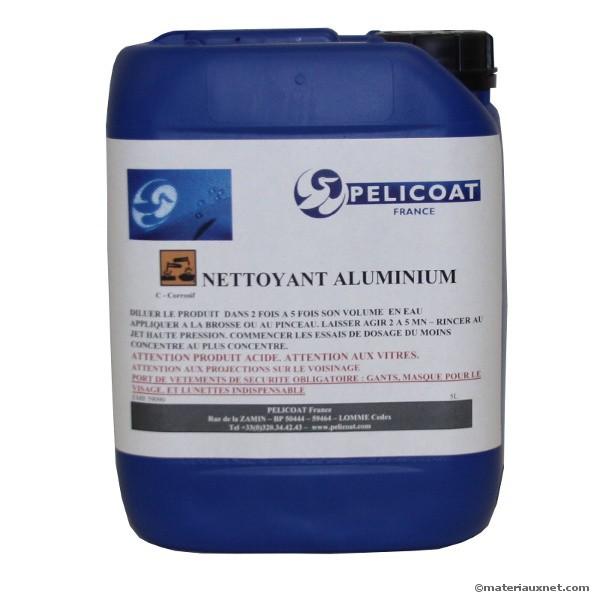 Nettoyant aluminium 0,5 à 2 % fluo Pelicoat, bidon de 5 litres