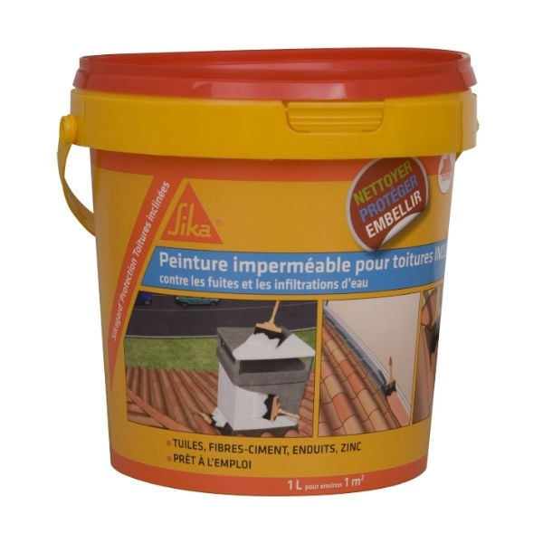 Protection Toiture Inclinée Sikagard Transparent, 1l