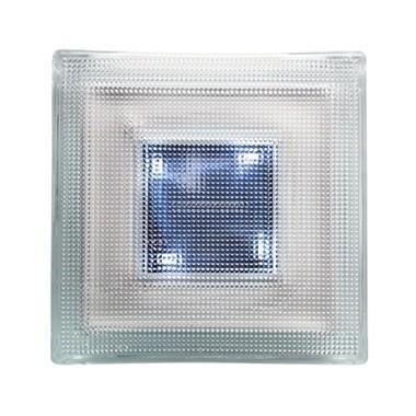 Pavé lumineux LUMI-SOL, LED et batterie 19,8x19,8x5,5 cm, carton de 2