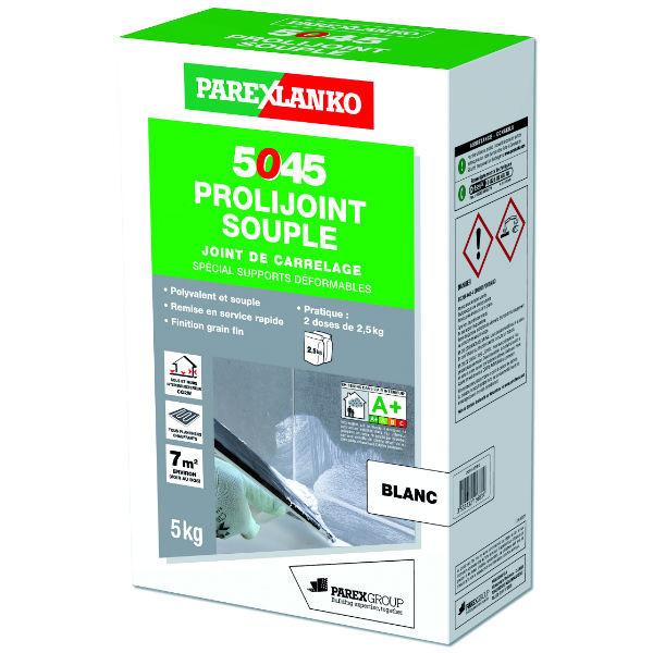 Mortier Joint Souple Mur & Sol 5045 Prolijoint Souple Blanc, 5 kg