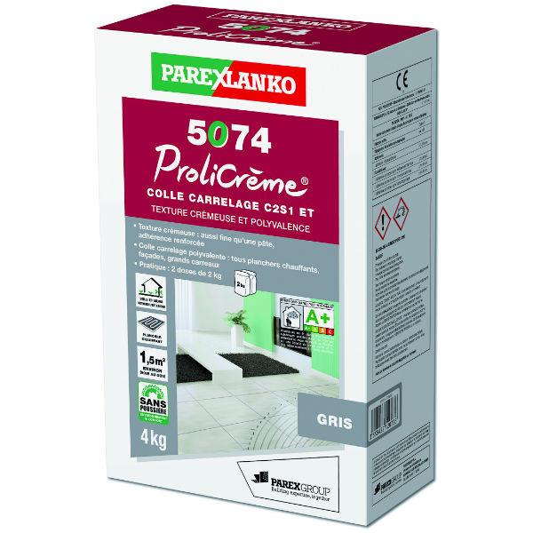 Colle pour Carrelage 5074 Prolicrème Gris ParexLanko, 4 kg