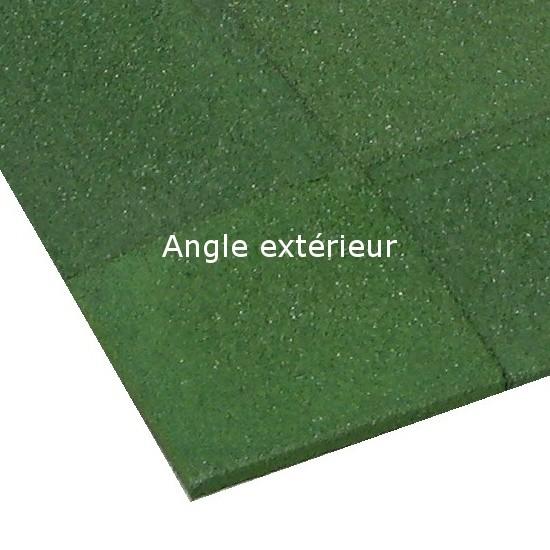 Angle extérieur caoutchouc chanfreiné Hexdalle XE 25 x 25 cm, ép 1 à 5 cm, couleur verte, l'unité