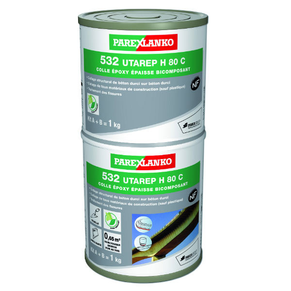 Colle Epoxy 532 Utarep h 80 c ParexLanko, kit de 1 kg