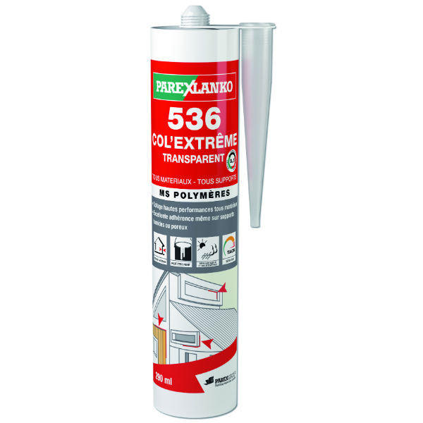 Mastic Joint & Colle 536 Col Extrême Transparent ParexLanko, 290 ml