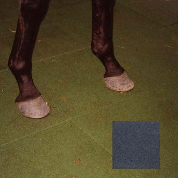 Dalle caoutchouc pour box à chevaux 50x50x4 cm couleur noire le M2