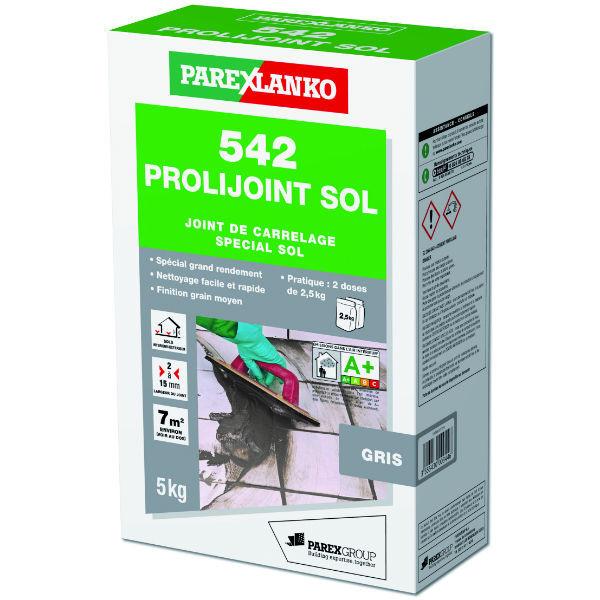 Mortier Joint Gris 542 Prolijoint Sol ParexLanko, 5 kg