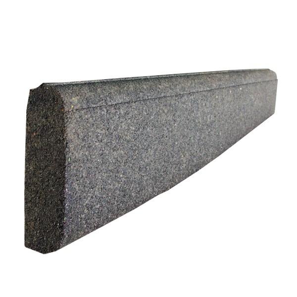 Bordurette caoutchouc P1-P2, en 1 m, haut 20 x ép 6 cm, couleur noire