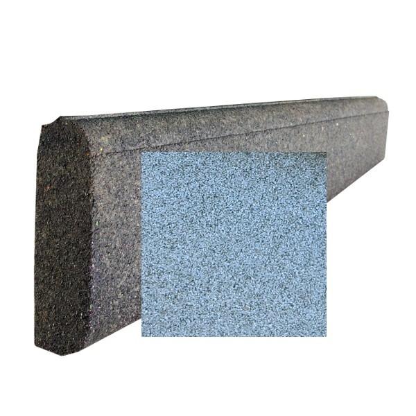 Bordurette caoutchouc P1-P2, en 1 m, haut 20 x ép 6 cm, couleur grise