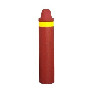 Borne anti-stationnement caoutchouc, D 18.5 cm, H 91 cm coul brique