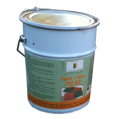 Colle gel monocomposante PU 93 pour dalles caoutchouc, pot de 5 kg