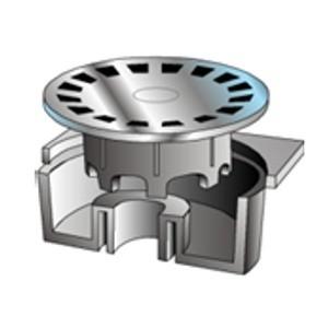 Siphon de cour pvc 250x250 mm gris par 10 u - Siphon de cour ...