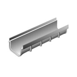 Caniveau PVC, larg 130 mm, long 500 mm, H 75 mm par 10 U soit 5 ml