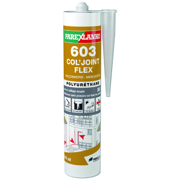 Mastic Polyuréthane Brun 603 Col'joint Flex ParexLanko, 300 ml