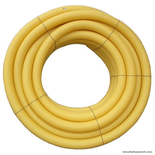 Drain agricole perforé nu en diamètre 80 mm, la couronne de 50 ml