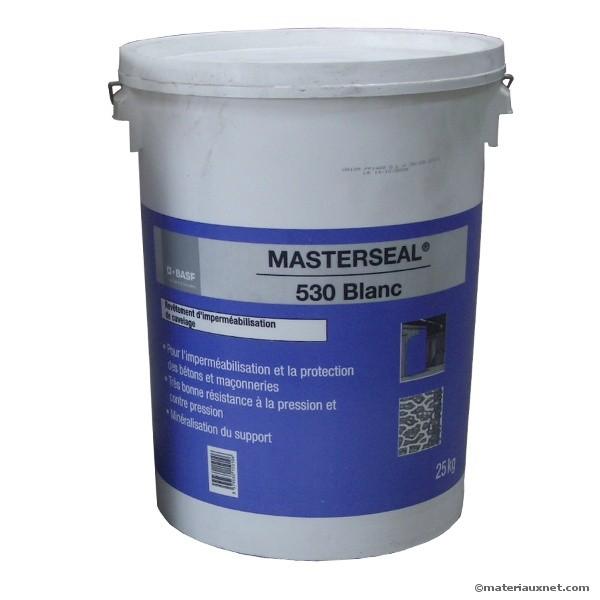 Mortier d'étanchéité Masterseal 530 blanc, le bidon de 25 kg