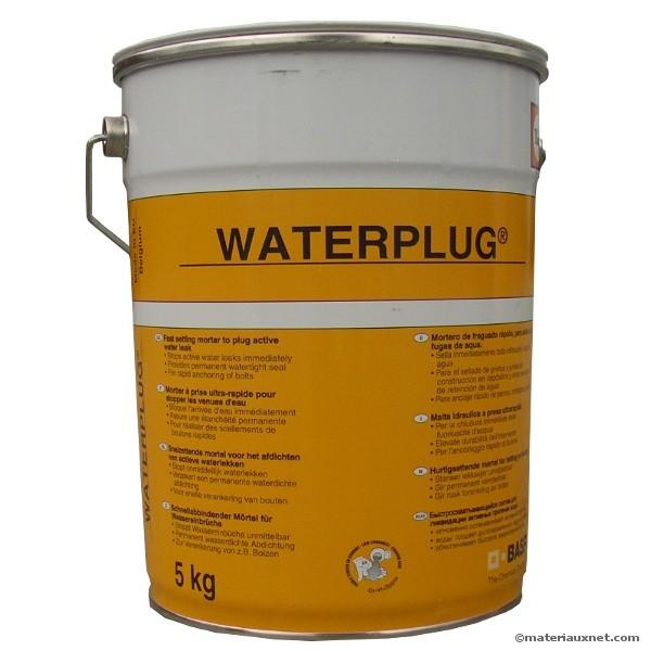 Mortier ultra rapide Waterplug en seau de 5 kg