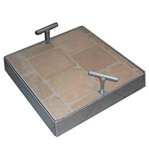 tampons paver en acier galvanis 100x100 cm. Black Bedroom Furniture Sets. Home Design Ideas