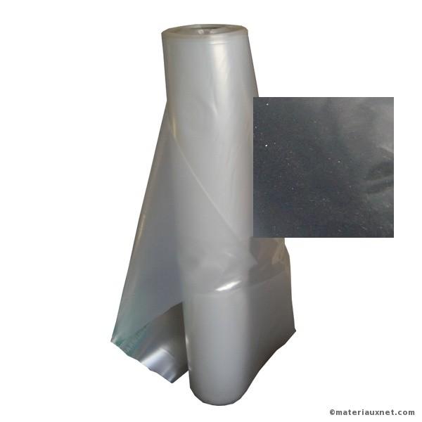 Film Polyéthylène noir 150 microns en largeur 6 m, rouleau de 330 M2