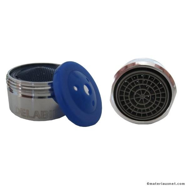 Mousseur anti-tartre Delabie avec joint économiseur d'eau M24, 2 pièces
