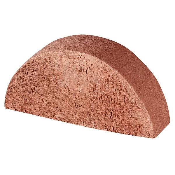 Brique moulure rouge tradition 62x105x220, Chaperon 1/2 rond