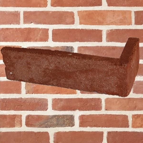 Plaquette d 39 angle rouge tradition paquet de 18 u - Pose plaquette de parement brique rouge ...
