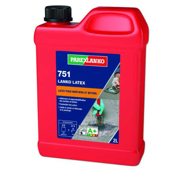 Colle de reprise 751 Lanko Latex pour Mortiers ParexLanko, 2 litres