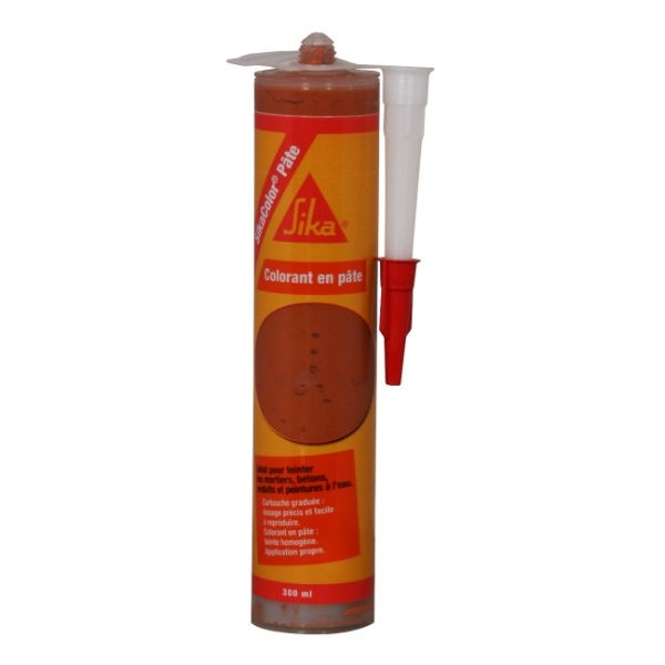 Colorant Sikacolor Pâte pour bétons et mortiers, Rouge 300 ml