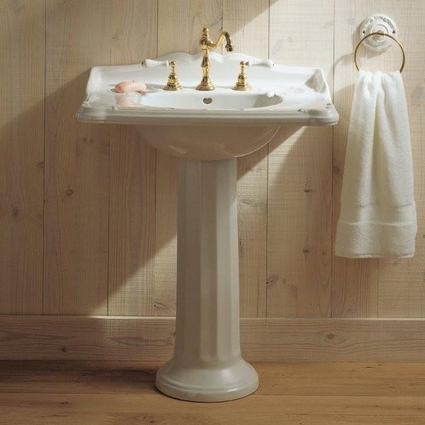 Colonne de lavabo Herbeau CHARLESTON Blanc