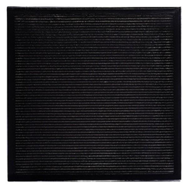 Carrelage mural quadra verra noir 19 6x19 6x1cm for Carrelage mural noir