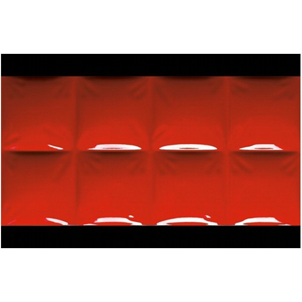 Carrelage Dune megalos red effet 3D, 30x60cm, la pièce