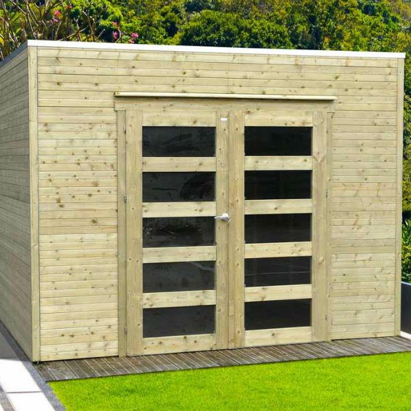 Abri de jardin bois autoclave SOLID modèle BARI 298 x 290 cm